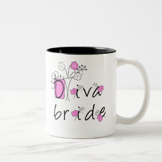 Diva Bride Two-Tone Coffee Mug