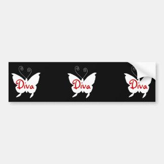 Diva Butterfly I Bumper Sticker