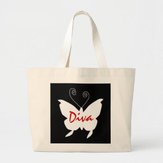 Diva Butterfly I Large Tote Bag