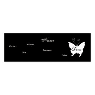 Diva Butterfly I Profile Card - Cusomizable Business Card