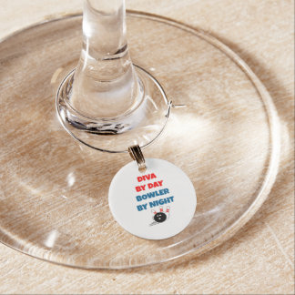 Diva by Day Bowler by Night Wine Charm