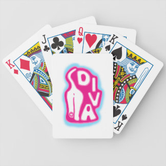 Diva Cat Bicycle Playing Cards
