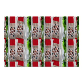 DIVA Celebrity Window: Fabric Scarve Jewels Flower Poster