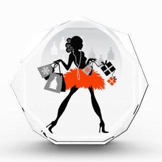 Diva Christmas Shopping Acrylic Award