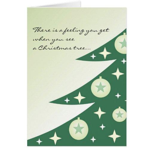 Diva Christmas Tree Card