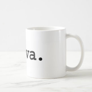 diva. classic white coffee mug
