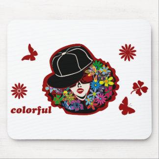 DIVA colorida (ancha) Alfombrilla De Ratones