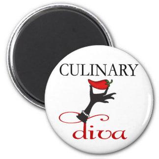 Diva culinaria imán redondo 5 cm