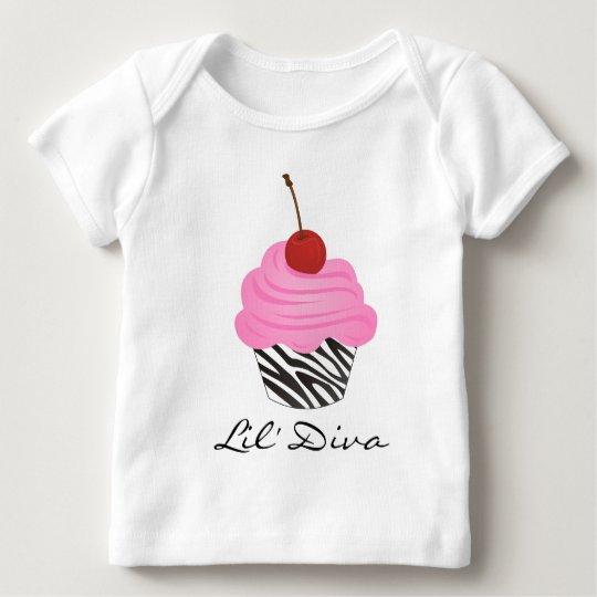 Diva Cupcake Baby T-Shirt