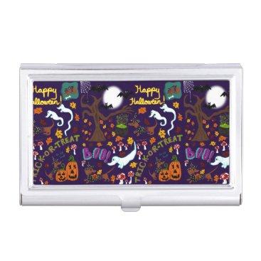 Halloween Themed Diva Dachshund's Halloween Business Card Holder