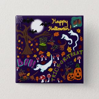 Diva Dachshund's Halloween Button