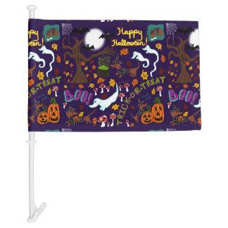 Diva Dachshund's Halloween Car Flag