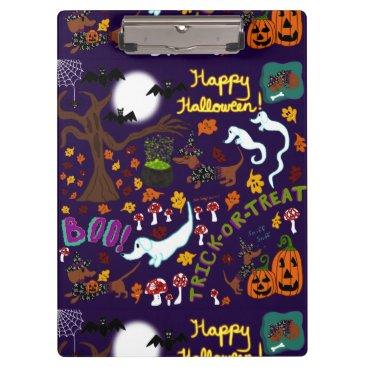 Halloween Themed Diva Dachshund's Halloween Clipboard