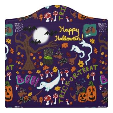 Halloween Themed Diva Dachshund's Halloween Door Sign