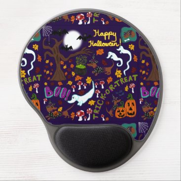 Halloween Themed Diva Dachshund's Halloween Gel Mouse Pad