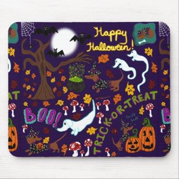 Halloween Themed Diva Dachshund's Halloween Mouse Pad
