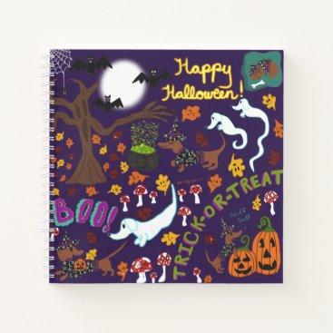 Halloween Themed Diva Dachshund's Halloween Notebook