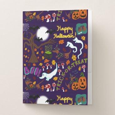 Halloween Themed Diva Dachshund's Halloween Pocket Folder