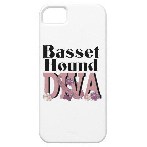 DIVA de Basset Hound iPhone 5 Carcasa