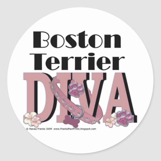 DIVA de Boston Terrier Etiquetas