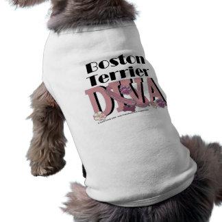 DIVA de Boston Terrier Playera Sin Mangas Para Perro