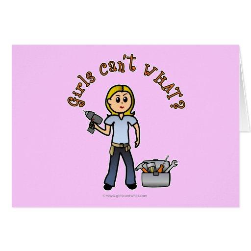 Diva de bricolaje rubia tarjeta de felicitación