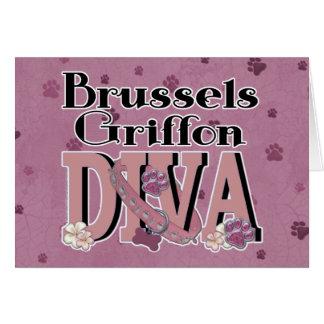 DIVA de Bruselas Griffon Tarjeta De Felicitación