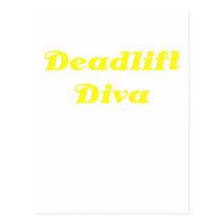 Diva de Deadlift Tarjetas Postales