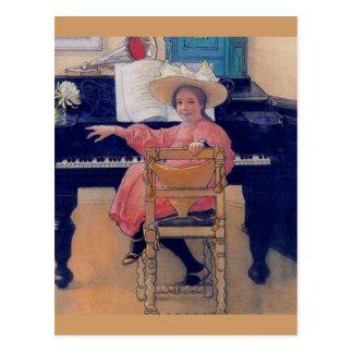 Diva de florecimiento del piano postales