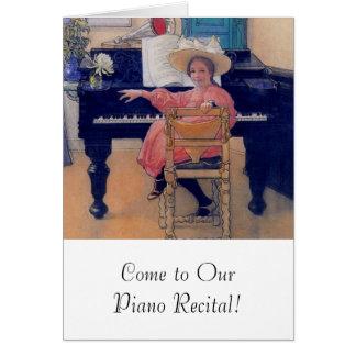 Diva de florecimiento del piano tarjeta de felicitación