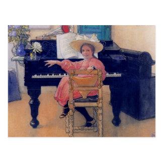 Diva de florecimiento del piano tarjeta postal