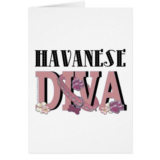 DIVA de Havanese Tarjeta De Felicitación