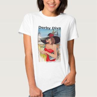 Diva de Kentucky derby - camiseta de la muñeca Playera
