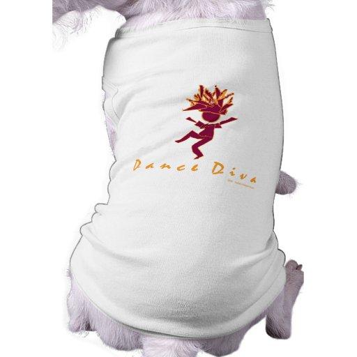 Diva de la danza camisa de perro