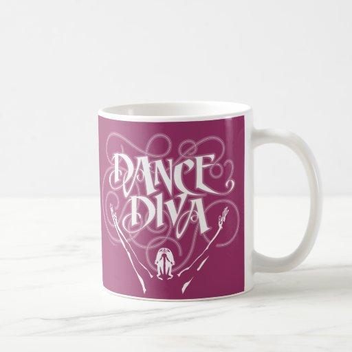 Diva de la danza tazas de café