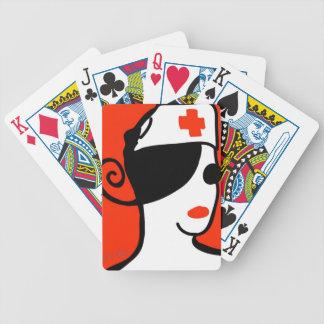 Diva de la enfermera baraja de cartas