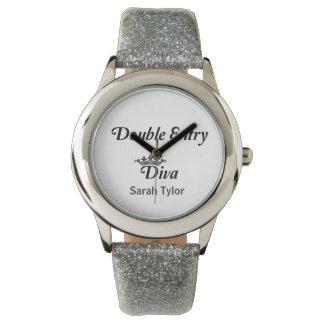 Diva de la entrada doble relojes de pulsera