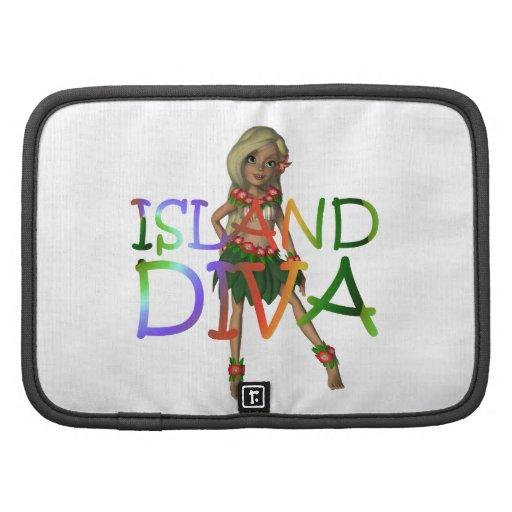 Diva de la isla de la CAMISETA Organizadores