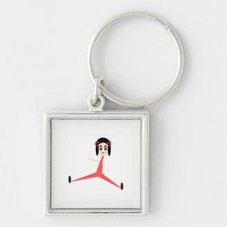Diva de la yoga llaveros