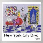 Diva de New York City Impresiones