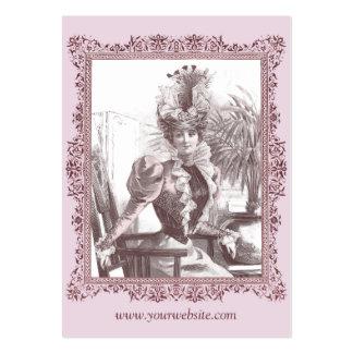 Diva de Nouveau del arte - tarjetas de visita magn
