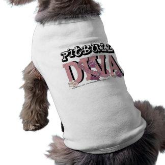DIVA de Pitbull Playera Sin Mangas Para Perro