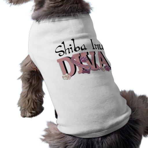 DIVA de Shiba Inu Camiseta De Perrito
