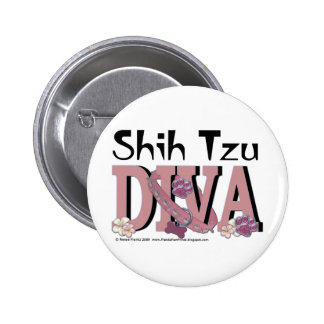 DIVA de Shih Tzu Pin Redondo 5 Cm