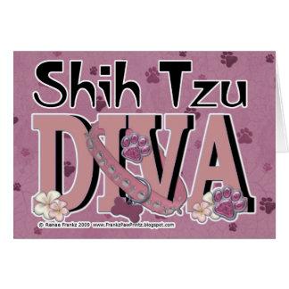 DIVA de Shih Tzu Tarjeta De Felicitación