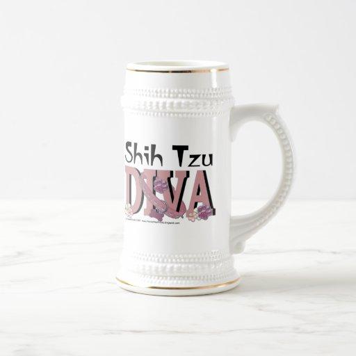 DIVA de Shih Tzu Tazas De Café