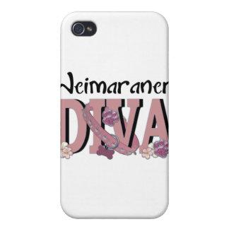DIVA de Weimaraner iPhone 4 Cobertura