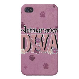 DIVA de Weimaraner iPhone 4/4S Fundas