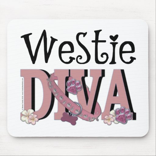DIVA de Westie Tapetes De Raton