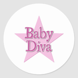 Diva del bebé pegatinas redondas